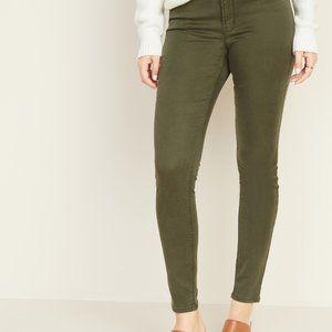 Material Girl Khaki High Waist Skinny Jeans